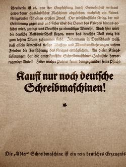 """""""Deutsche Schreibmaschinen"""", Foto © Friedhelm Denkeler 2011"""