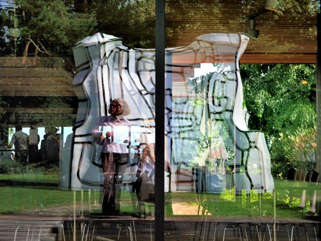 """""""Selbst mit Jean Dubuffets 'Dynamic Manor', 1969/82"""", Foto © Friedhelm Denkeler 2011"""