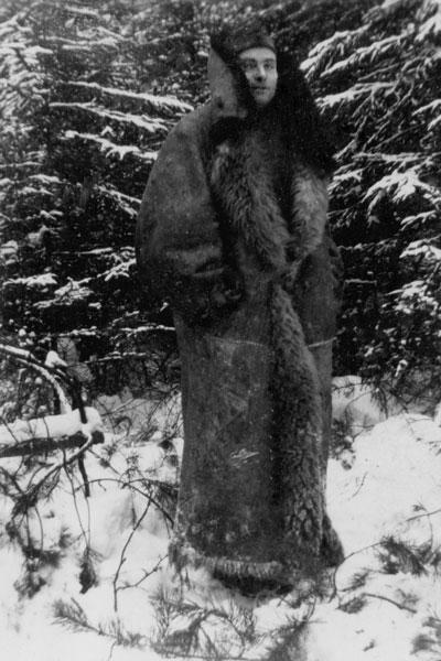 """""""Erich Meinert im russischen Winter"""", ca. 1943, Archiv © F. Denkeler"""
