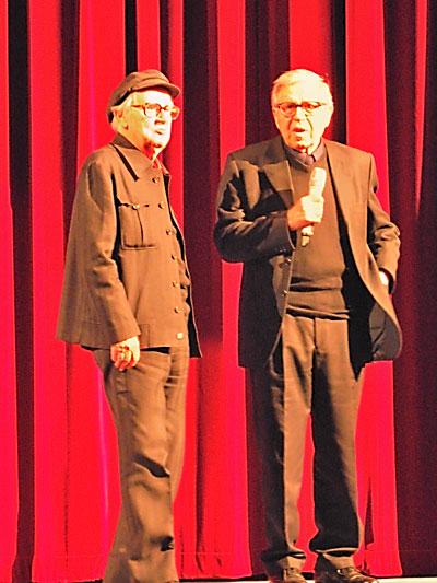 """Paolo & Vittorio Taviani im Berlinale Palast"", Foto © Friedhelm Denkeler 2012"