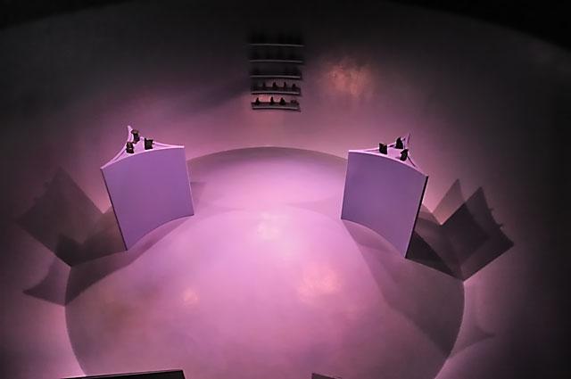 """Documenta 13: Die Gameshow im Lehmberg des Michael Portnoy"", Foto © Friedhelm Denkeler 2012"