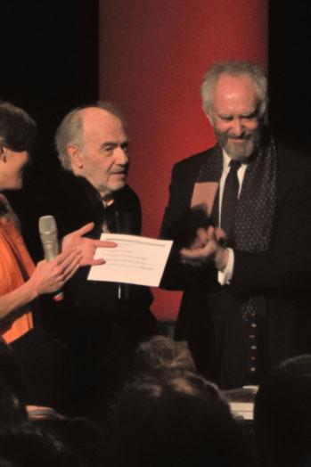 """Regisseur George Sluizer (li.) und Jonathan Pryce, Foto © Friedhelm Denkeler 2013"