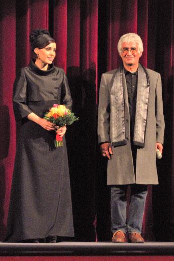 """Maryam Moghadam und Kambozia Partovi"",  Foto © Friedhelm Denkeler  2013"