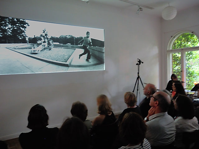 "Frank Silberbach, Projektion ""Berlin 140 Grad"", Foto © Friedhelm Denkeler 2013"