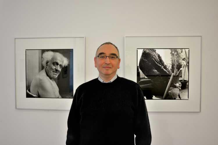 """""""Amin El Dib in der Kommunalen Galerie Berlin in Wilmersdorf"""", Foto © Friedhelm Denkeler 2015"""