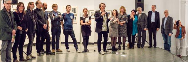 """Eröffnung der Ausstellung """"Bildwechsel – Fotografie nach der Werkstatt für Photographie"""" im Kunstquartier Bethanien, © Fotos: Uwe Helwig,, Montage: FD"""