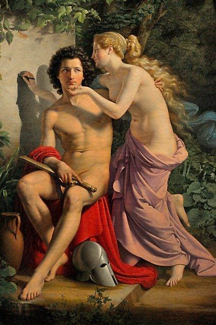"Eduard Daege: ""Erfindung der Malerei"" (1832), Foto © Friedhelm Denkeler 2008"