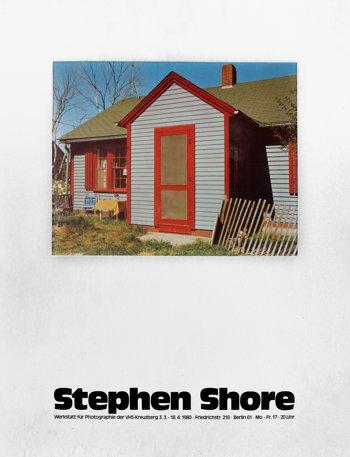 """Plakat der Werkstatt für Photographie: """"Stephen Shore"""", 1980, Foto © Friedhelm Denkeler 2016"""