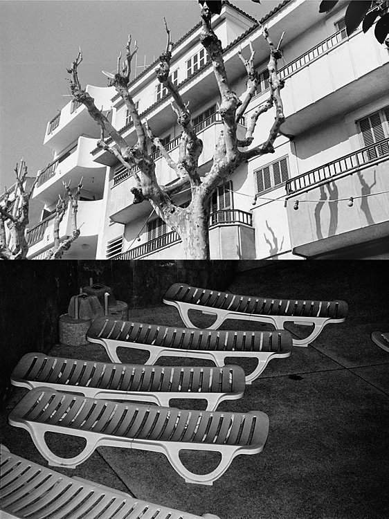 """Aus der Serie """"Eine Mallorquinische Nacht. Cala Ratjada – Photographien aus der Vorsaison"""", Foto © Friedhelm Denkeler 1993"""