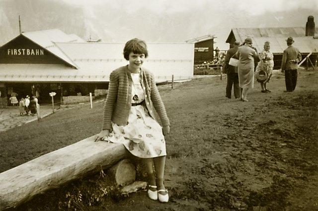 """""""Erinnerung an die Firstbahn im Sommer 1957"""" (Grindelwald, Schweiz),  aus der Serie """"Wahlverwandtschaften"""", Archiv © Friedhelm Denkeler"""