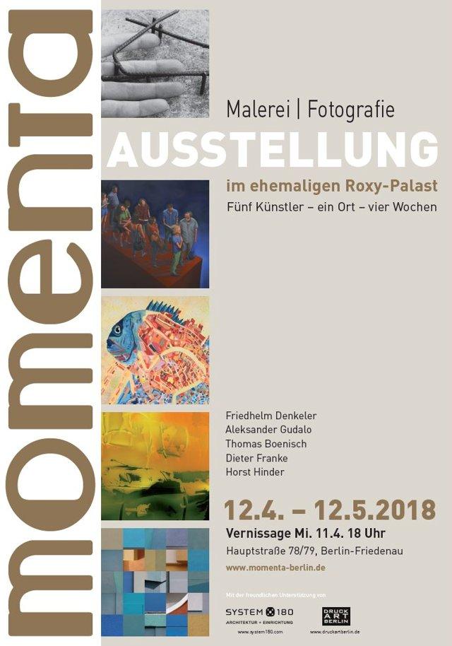 """Plakat zur momenta in Berlin-Friedenau 2018"""