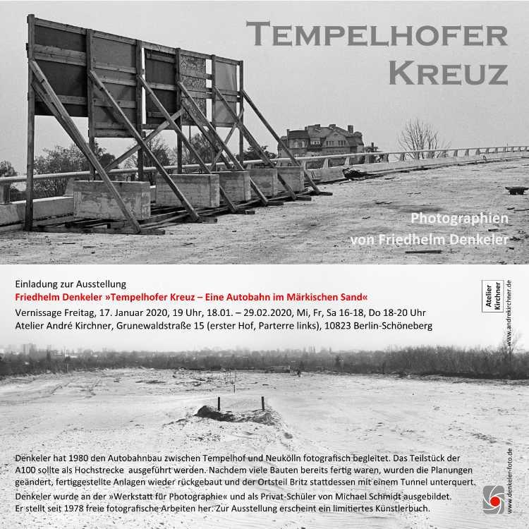 Einladung zur Vernissage »Tempelhofer Kreuz« im Atelier André Kirchner