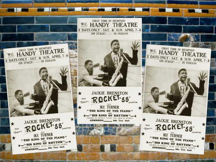 »Plakate zum Konzert von Jackie Brenston«